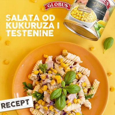 salata od kukuruza i testenine