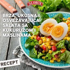 salata od kukuruza i maslina